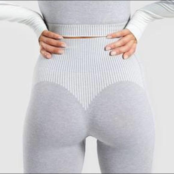 8dbdda921e6849 Gymshark Pants | Amplify Seamless Leggings Light Grey | Poshmark